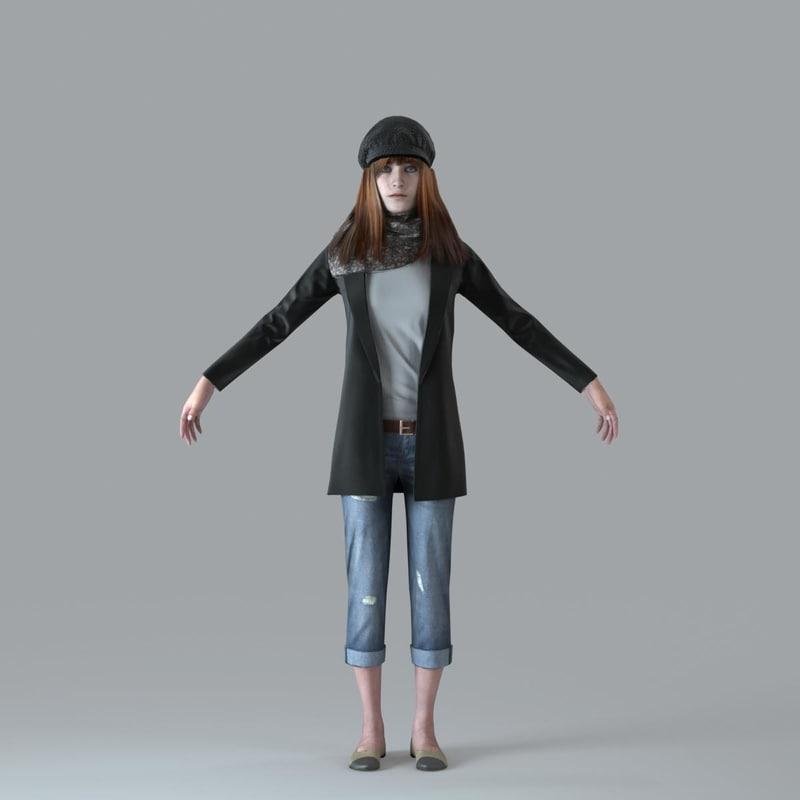 3d axyz character human model