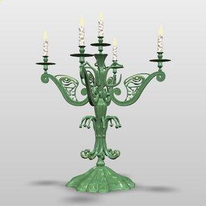 candlestick candelabrum 3d max