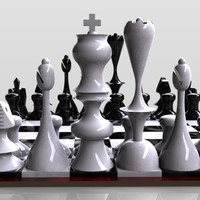 3d chessboard board chess