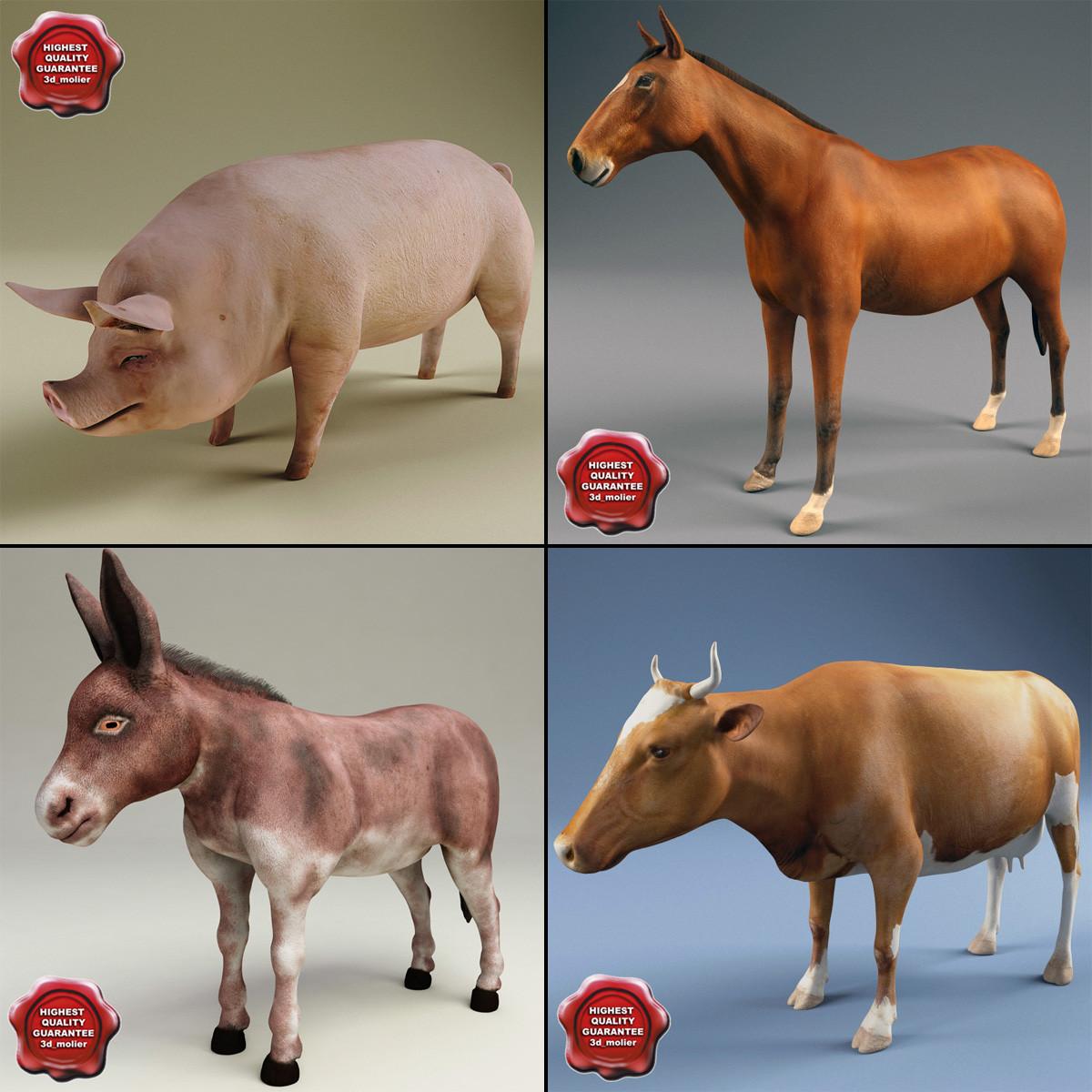 Animals 3d model farm animals 3d model voltagebd Images