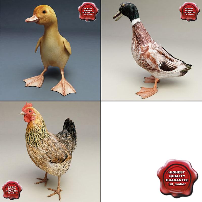 3ds farm animals v2