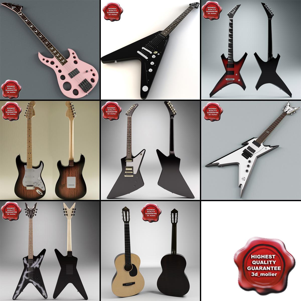 3ds max guitars v3