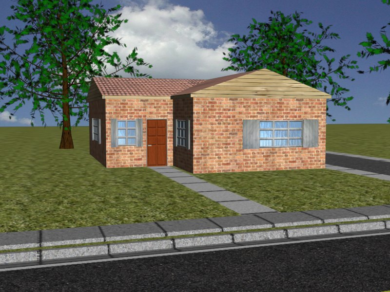free small house 3d model