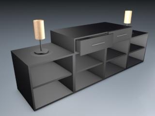 living room cabinet 3d model