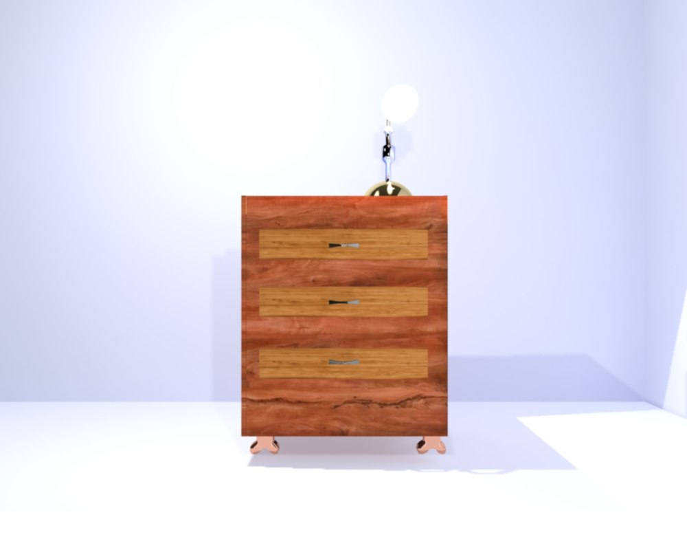 3d night stand lamp model