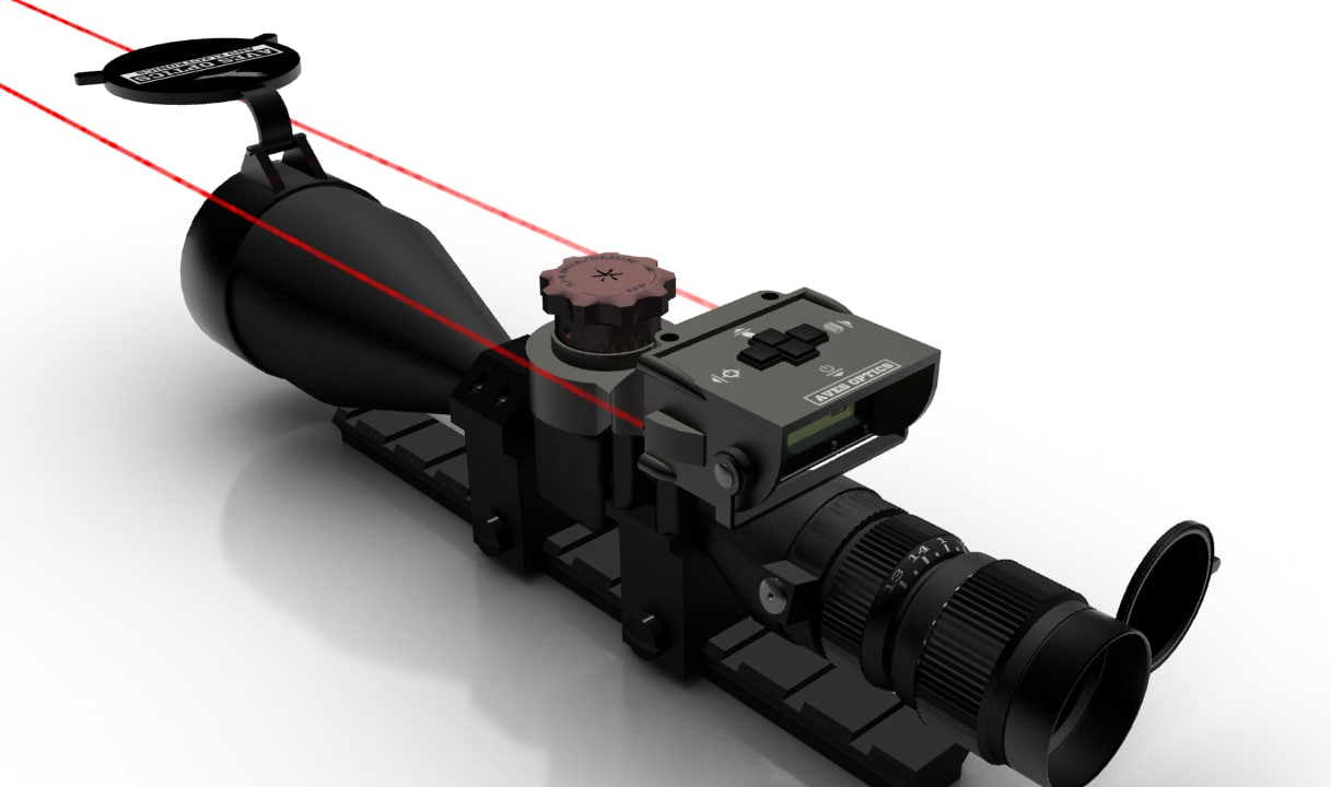 3d model hi-tech modern scope