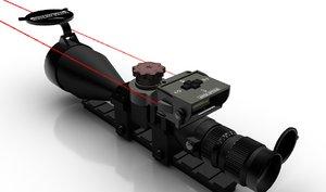 3d model hi-tech modern scope