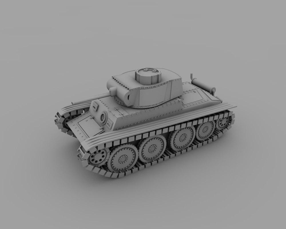 3ds max panzerkampfwagen t tank