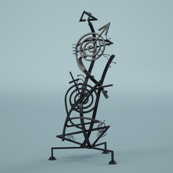 sculpture modern 3d max