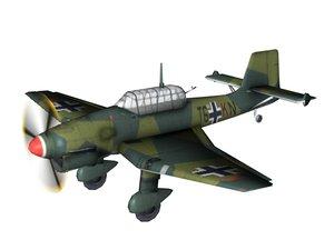 stuka dive bomber c4d