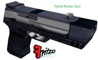 3d tomb raider gun pistol model