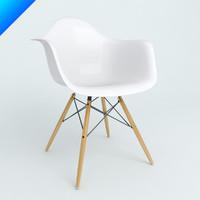 plastic armchairs eames 3d model