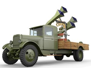3d model zis-12 locator truck