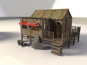 shacks 3d model