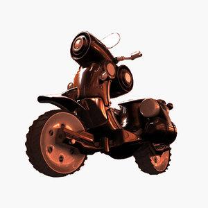 3d alien bike model