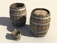 maya barrels bucket open