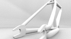 3d model bmx bike frame