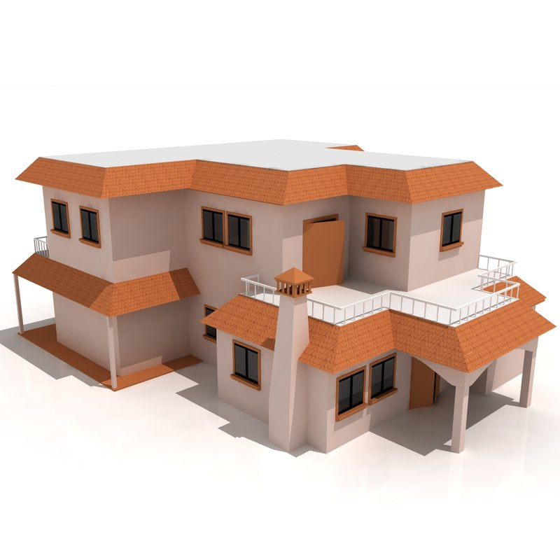 residential house - duplex 3ds