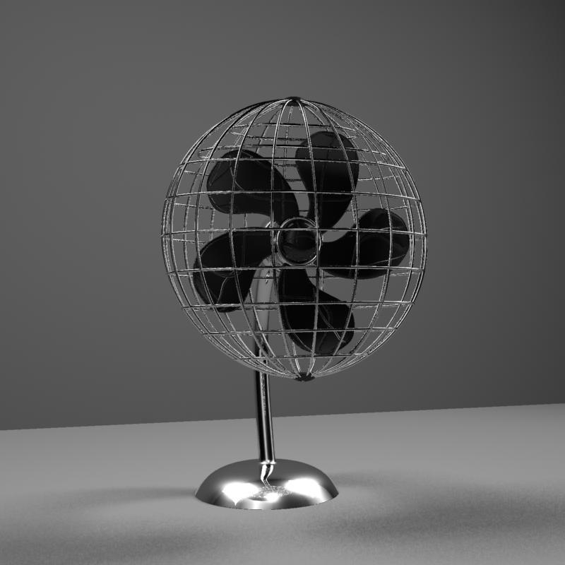 desk fan 3d model