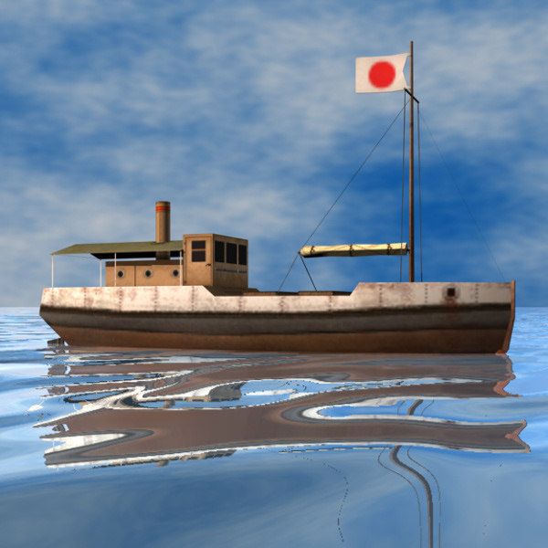 fishing boat ww2 3d 3ds