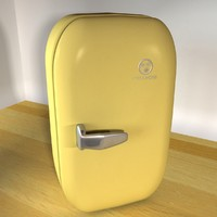 vintage refrigerator retro 3d 3ds