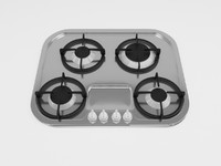 3d gas cooktop model
