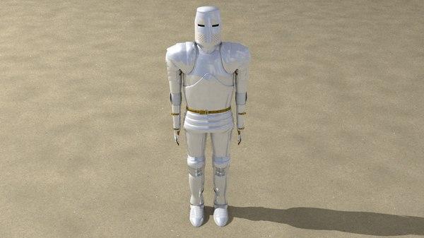 knight rigged 3d model
