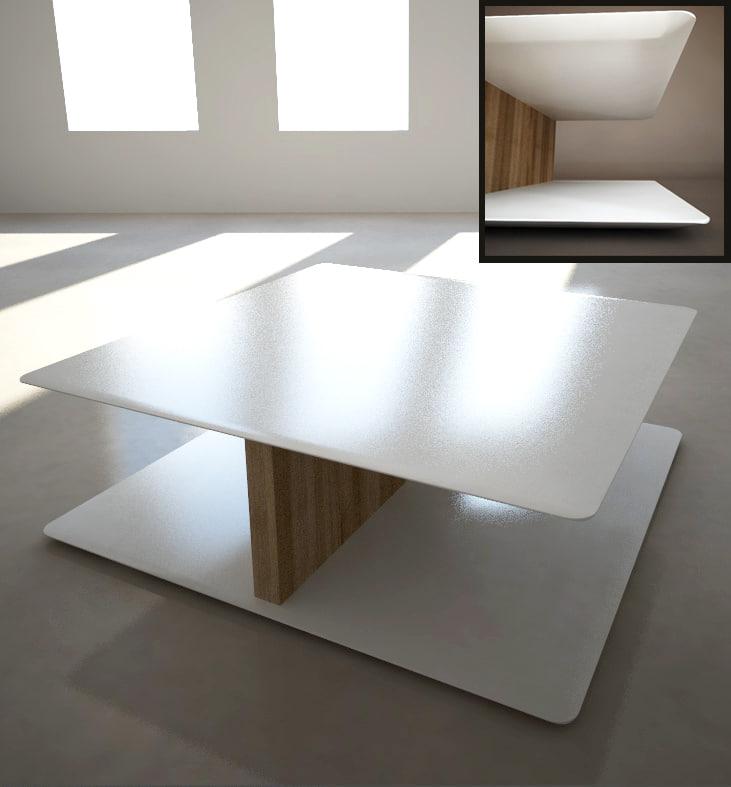 3d dxf coffee table sabana