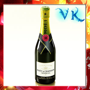 champagne moet chandon 3d model