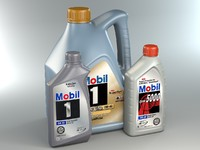 Mobil Motor Oil Bottles