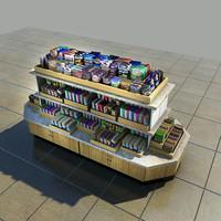 snacks merchandise island 3d max