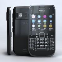 3d model nokia e6-00 black