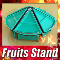 3d fruits stand