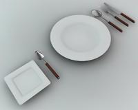 Knife plate fork Spoon