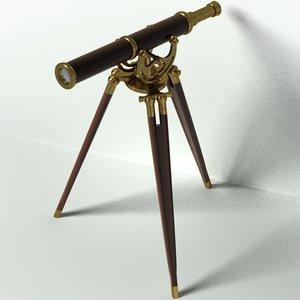 3d antique telescope