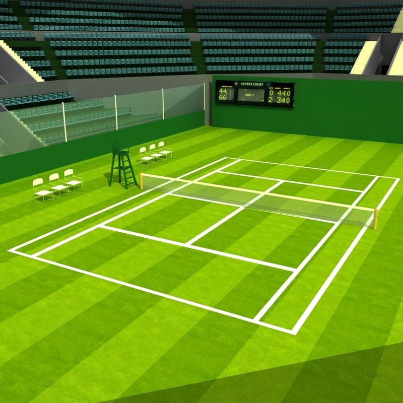 3d wimbledon tennis stadium model