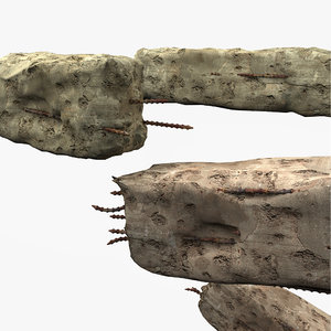 debris pillar 3d model