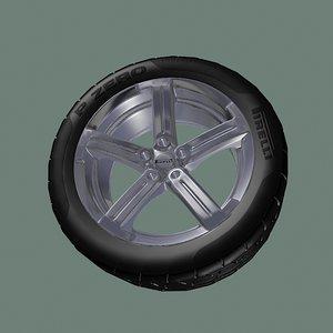 pirelli wheel 3d max