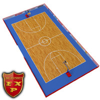 3d basketball court