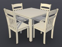 Tamman dining table and four chair set