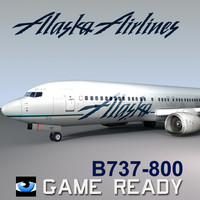 3ds max alaska airlines b737-800
