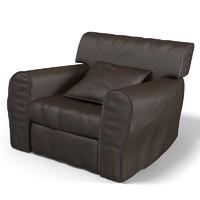 3d model baxter housse leather