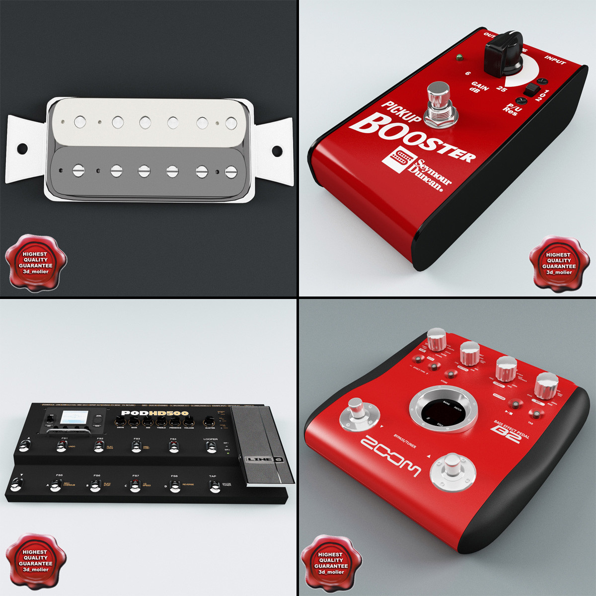 3ds max electric guitar equipment