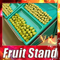 Fruit Stand + Pear + Lemon + High Resolution Textures.