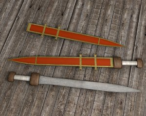 roman gladius sword weapon 3d model
