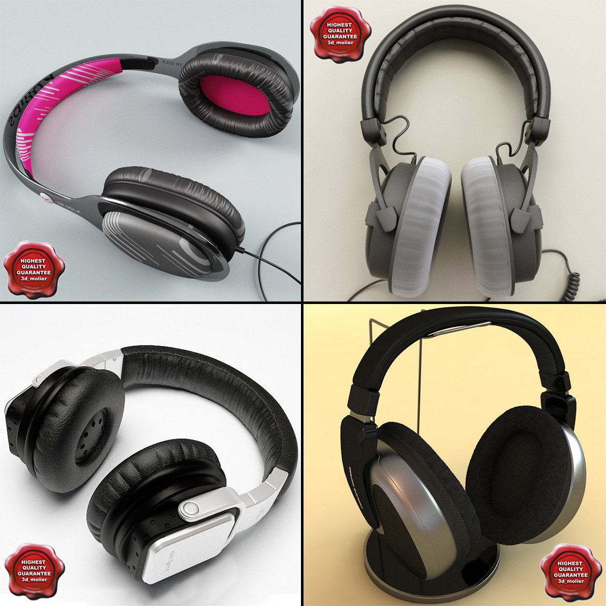 3d model headphones v2