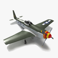 p51 fighter aircraft 3d max