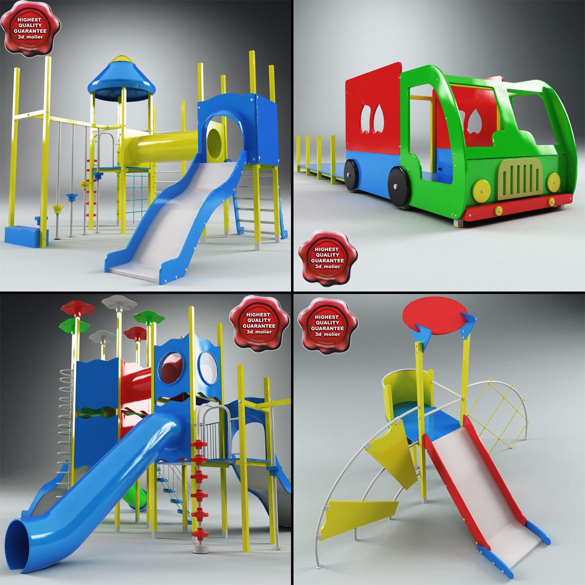 3d model playgrounds v3
