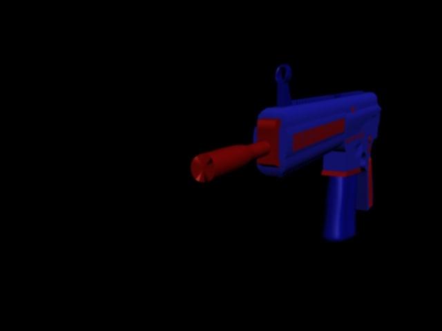 free m417 combat m 3d model