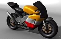 3d rc211v motorbike model